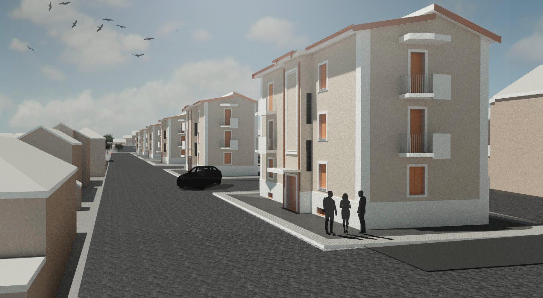 Partiti i lavori di sistemazione delle palazzine comunali in viale San Francesco a Balsorano