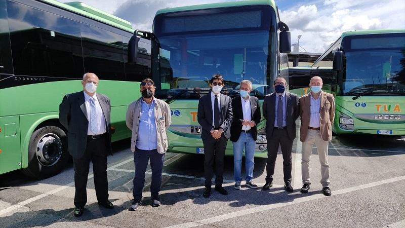 TUA, 6 nuovi bus di ultima generazione che si aggiungono agli 8 consegnati circa un mese fa