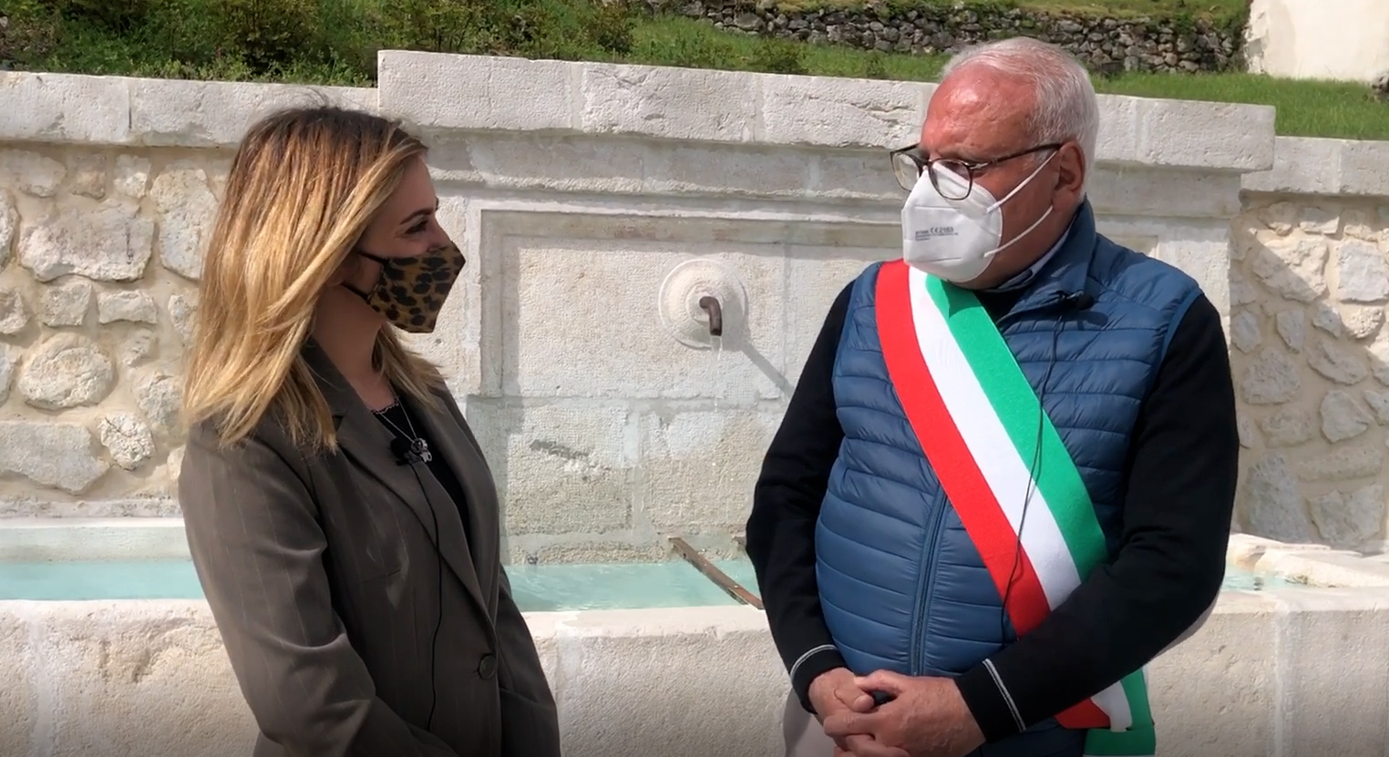 Capistrello: dopo i lavori di restyling, inaugurata Piazza Fonte Vecchia