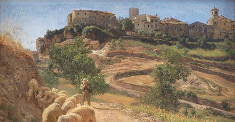 Civita d'Antino in un dipinto di fine Ottocento dell'artista danese Joakim Skovgaard