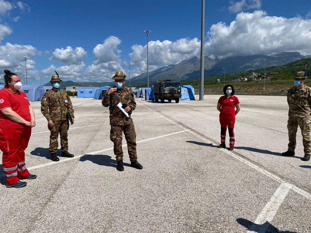 Emergenza post sisma, esercitazione degli alpini ad Avezzano