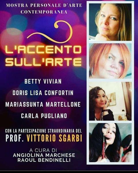 Mostra a Roma della psicoterapeuta e pittrice avezzanese Mariassunta Martellone alla presenza di Vittorio Sgarbi