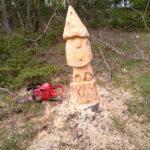 Tra i boschi di Ovindoli appaiono le nuove opere in legno di Enrico Rinaldi