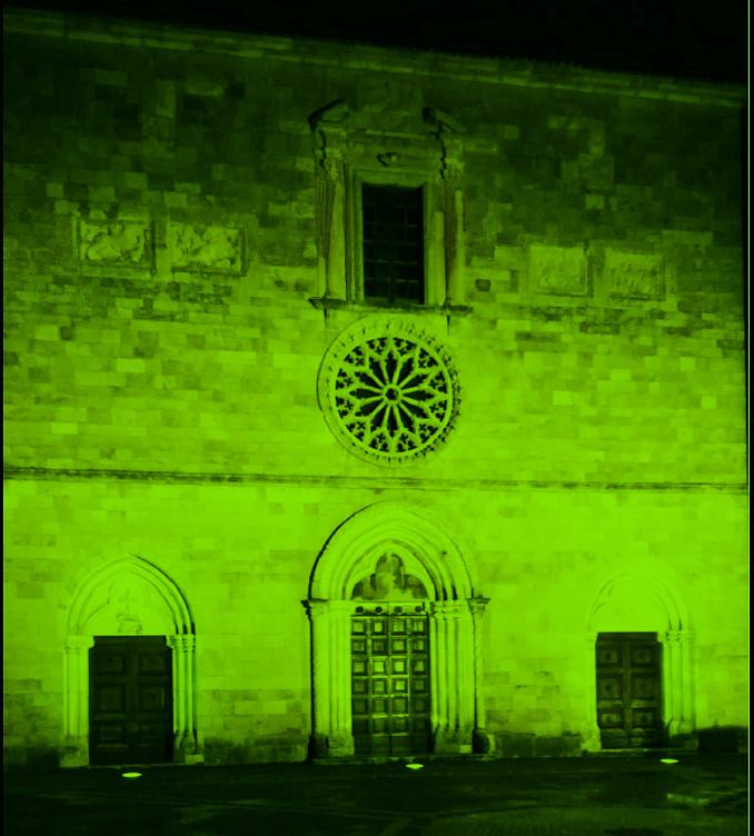 """""""Giornata Internazionale dell'Infermiere"""", la chiesa di Santa Lucia a Magliano de' Marsi si illumina di verde"""