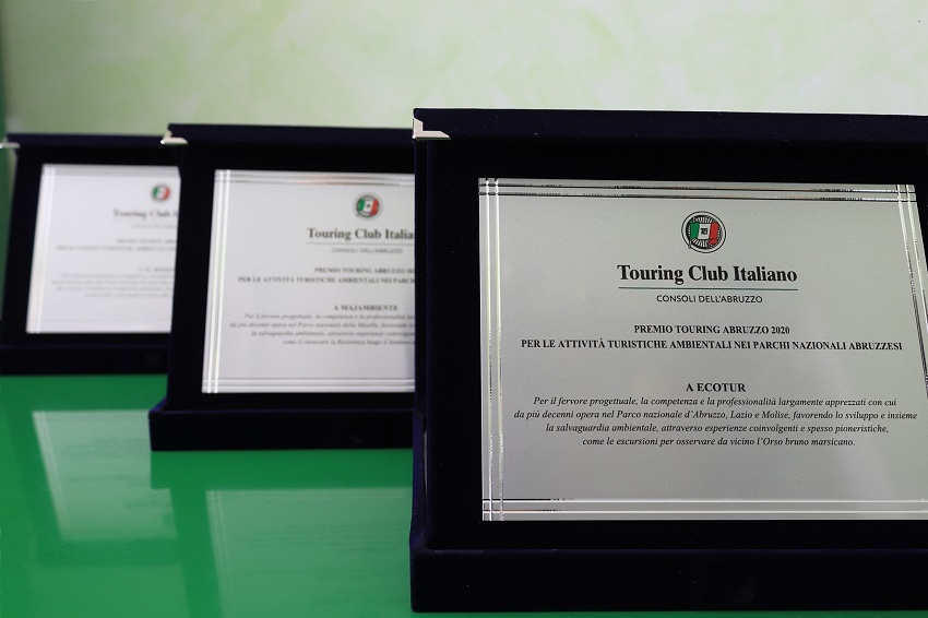 Ecotur, Majambiente e Il Bosso sono i vincitori del Premio Touring Abruzzo 2020