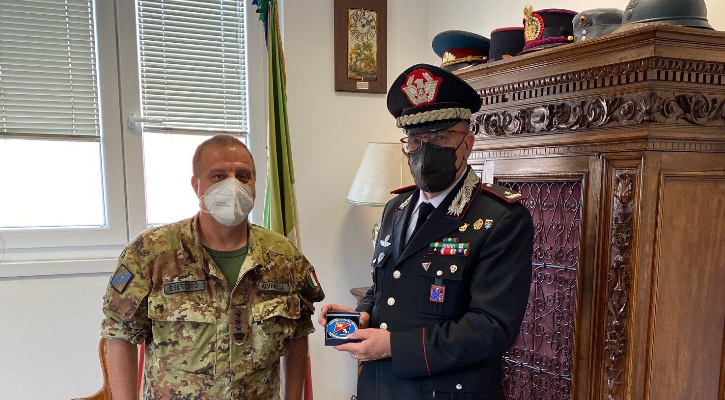 """Visita di commiato al Comando Militare esercito """"Abruzzo Molise"""" del Generale di Brigata Carlo Cerrina"""