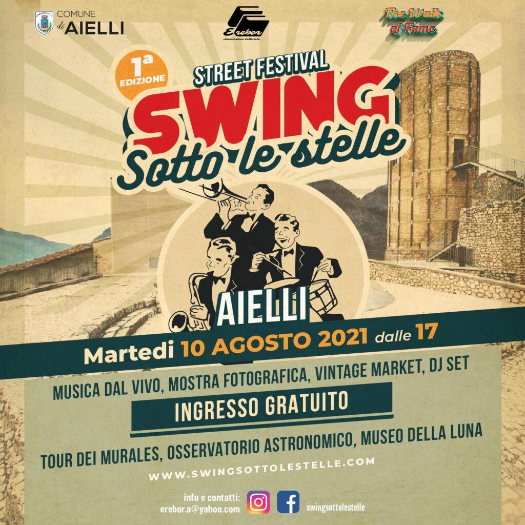 """Arriva ad Aielli la prima edizione dello street festival """"Swing sotto le stelle"""""""