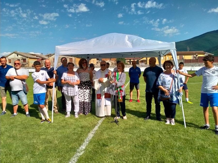 Inaugurato il rinnovato campo sportivo comunale a Luco dei Marsi