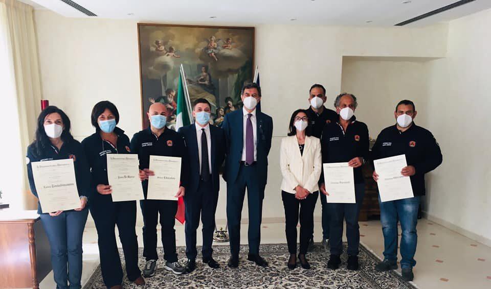 Riconosciuta l'Onorificenza di Cavaliere dell'Ordine al Merito della Repubblica Italiana al personale della Protezione Civile Regionale