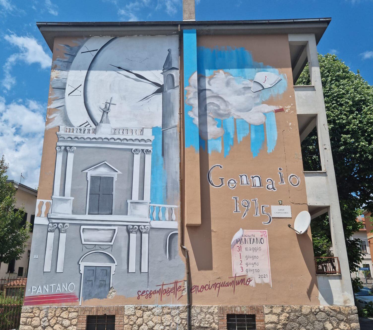 Concluso il murale in piazza San Bartolomeo ad Avezzano