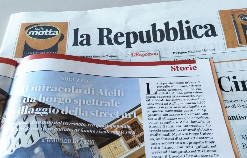 """Il """"miracolo di Aielli"""" su la Repubblica"""