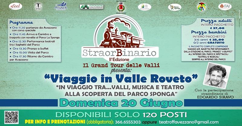 """""""StraorBinario, il Grand Tour delle Valli"""", parte il viaggio nella Valle Roveto"""