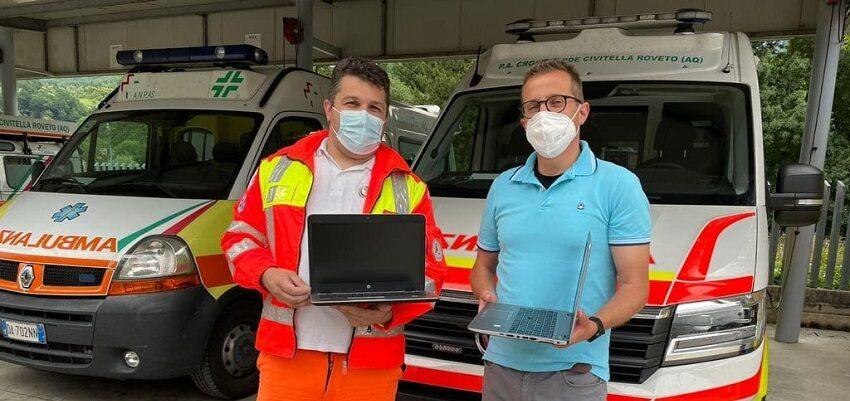 La Micron Semiconductor Italia S.r.l. dona due laptop alla Croce Verde Civitella Roveto