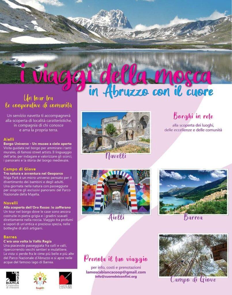 """""""I viaggi della mosca, in Abruzzo con il cuore"""", un tour tra le cooperative di comunità"""