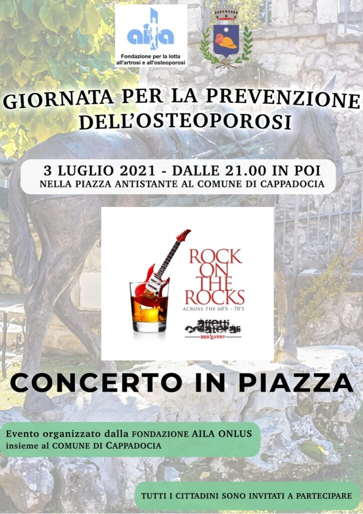 """Giornata di prevenzione dell'osteoporosi, """"Concerto in piazza"""" a Cappadocia"""