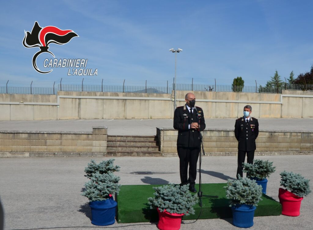 """Il comandante della Legione Carabinieri """"Abruzzo e Molise"""" Cerrina in visita a L'Aquila per il saluto di commiato"""