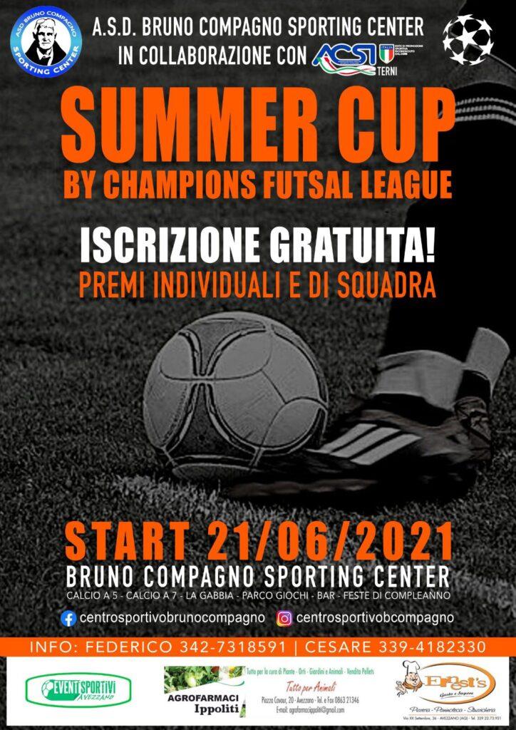 Ancora una settimana per iscriversi al Summer Cup by Champions Futsal League di Calcio a 5