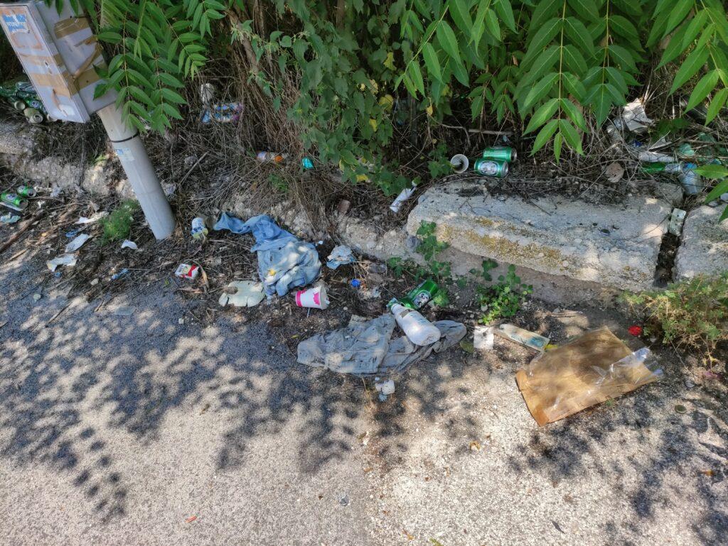 Indumenti, svastiche e una marea di lattine di birra: degrado alle porte del centro di Avezzano