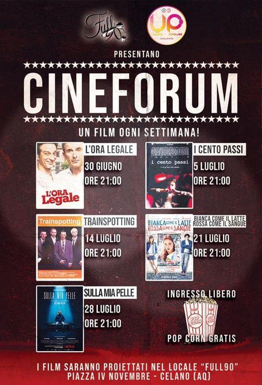 Celano, dal 30 giugno parte il Cineforum targato UP