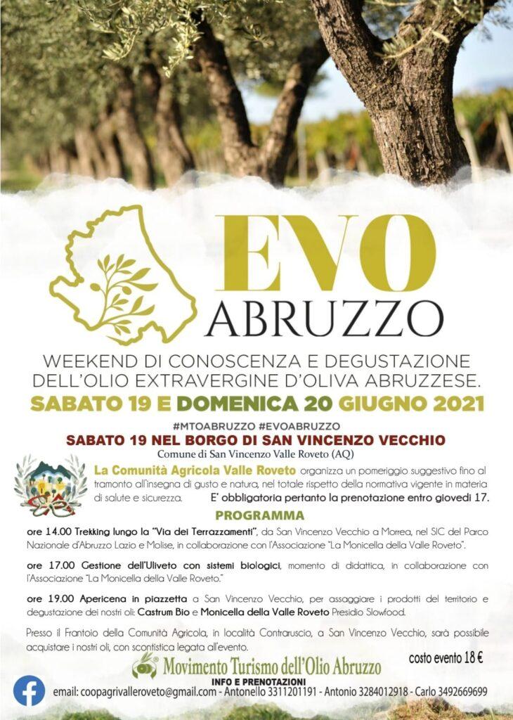EVO Abruzzo, primo appuntamento del Movimento per il Turismo dell'Olio a San Vincenzo Valle Roveto sabato 19 giugno