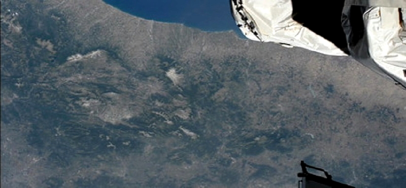 L'Abruzzo visto dalla Stazione Spaziale Internazionale