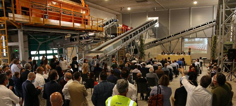 Inaugurato il nuovo impianto di compostaggio Aciam ad Aielli