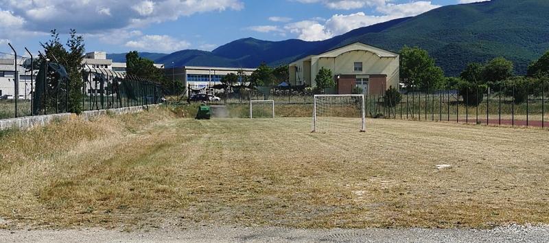 Due mini campi da calcio a disposizione dei ragazzi di Trasacco