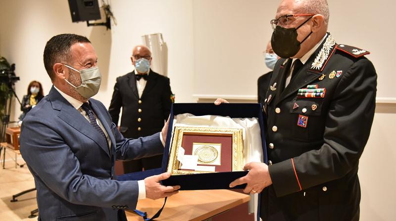 Riconoscimento al Comandante della Legione Carabinieri Abruzzo e Molise, Generale Carlo Cerrina