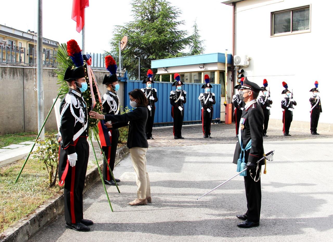 Celebrazione del 207° annuale della fondazione dell'Arma dei Carabinieri