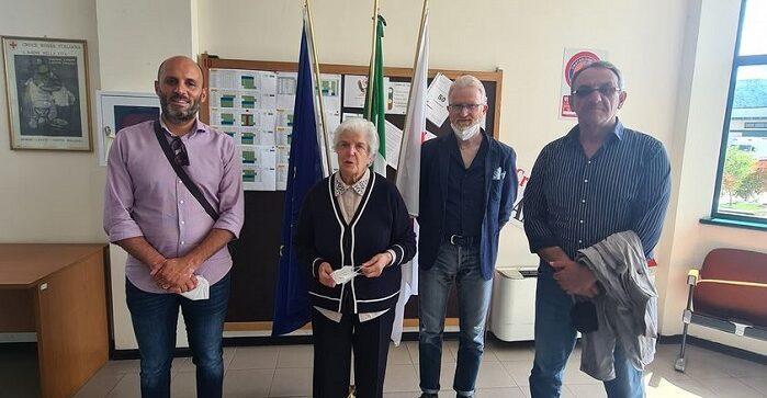Riapertura di una sede della Croce Rossa a Lecce nei Marsi, l'incontro tra i sindaci e la presidente della CRI Maria Teresa Letta
