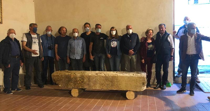Recupero dell'antico fregio romano, i ringraziamenti agli abitanti di Corcumello e Capistrello