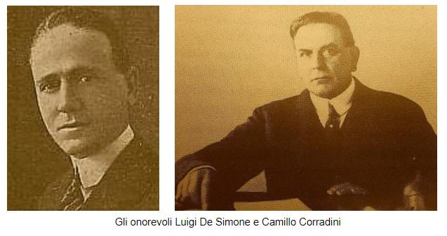 Gli onorevoli Luigi De Simone e Camillo Corradini