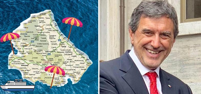 """""""Abruzzo bagnato da tre mari"""": la gaffe di Marsilio diventa un tormentone online"""