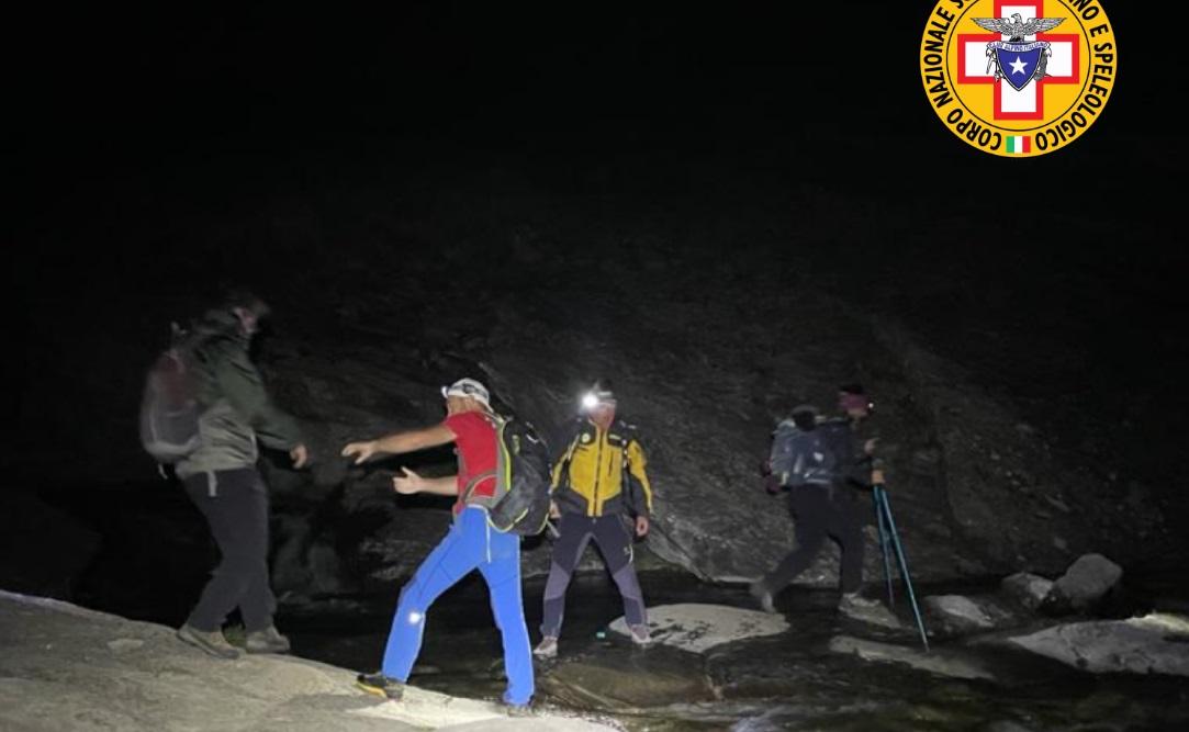 Quattro ragazze recuperate nella notte sul Gran Sasso