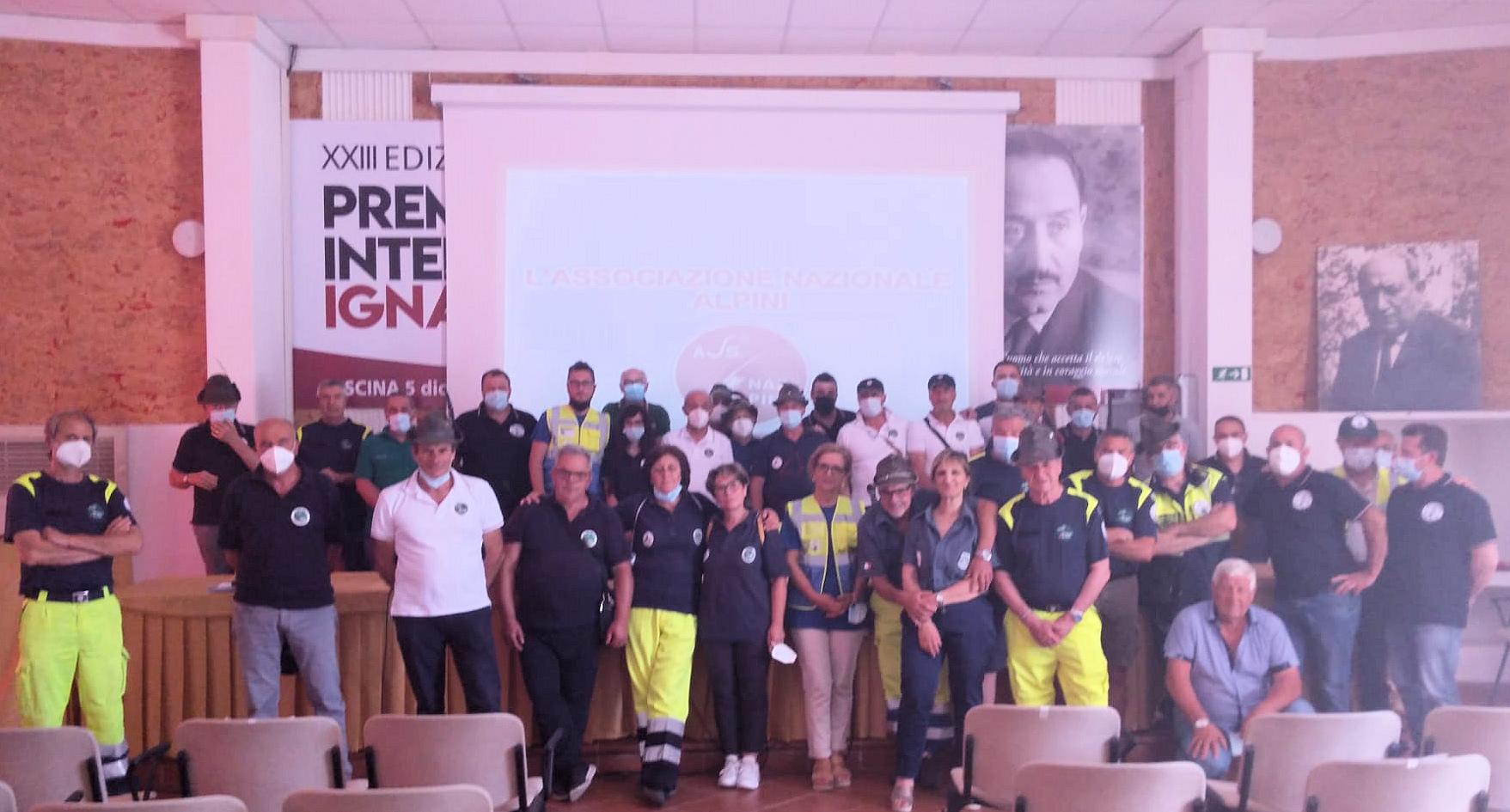 Corso di formazione della Protezione Civile A.N.A. Abruzzo a Pescina