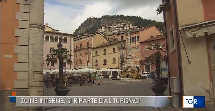 Zona bianca. Il TG3 Abruzzo a Tagliacozzo per descrivere la ripartenza delle aree interne