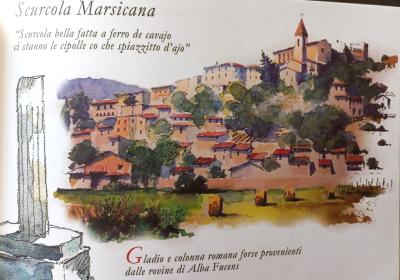 Matite in cammino, lo sketchbook di Maurizio Moretti con gli acquerelli dedicati alla Marsica e ai briganti