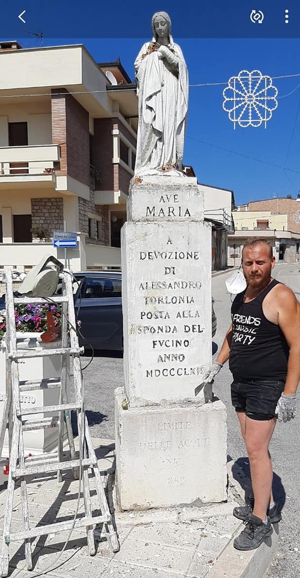 Intervento di restauro per la statua della Madonna del Fucino a San Benedetto dei Marsi