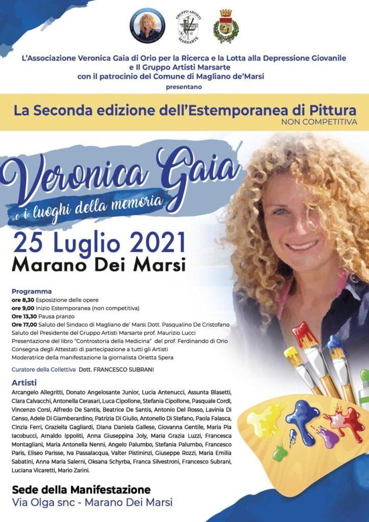 """Domenica 25 luglio a Marano dei Marsi estemporanea di pittura """"Veronica Gaia e i luoghi della memoria"""""""