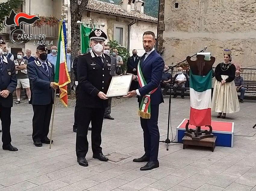 Celebrato a Scanno il 150° anniversario della concessione della 3^ medaglia d'argento al valor militare al Brigadiere Chiaffredo Bergia