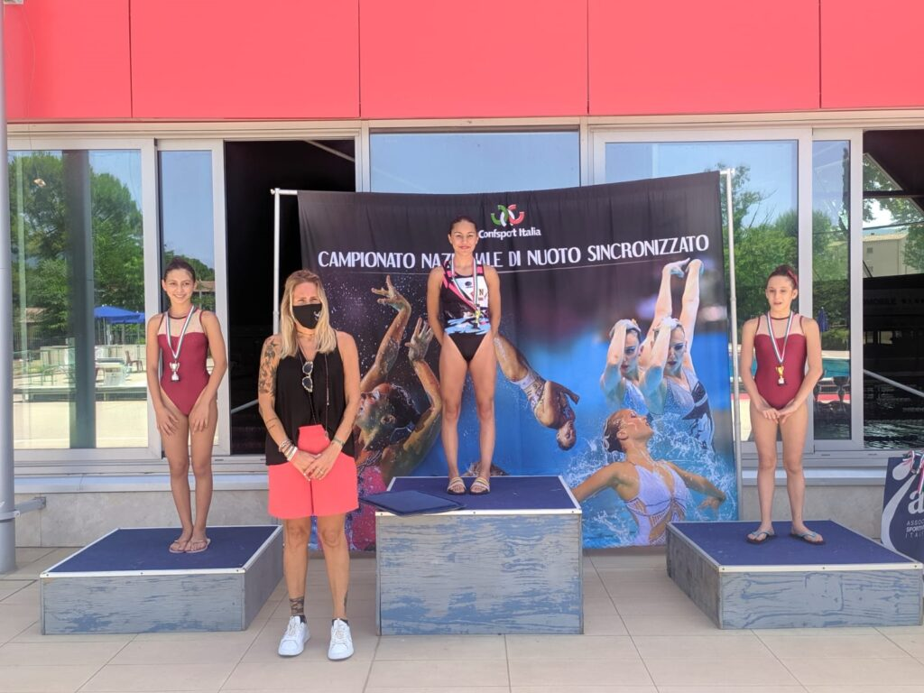 Incetta di medaglie per le atlete della Pinguino al Campionato Italiano di nuoto sincronizzato Confsport