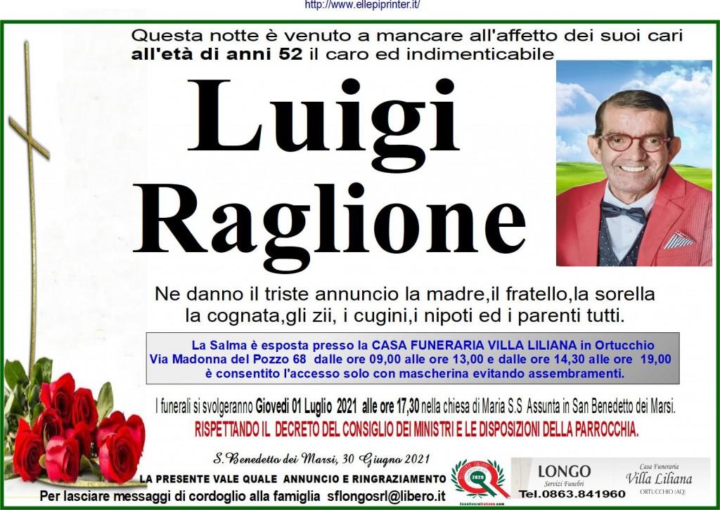 Muore a 52 anni, San Benedetto dei Marsi a lutto per la morte di Luigi Raglione