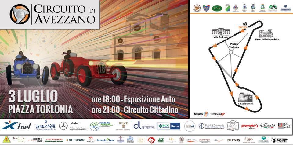 """Al via la IX Edizione del """"Circuito di Avezzano"""", 84 auto da sogno provenienti da 8 nazioni diverse attraverseranno la Marsica"""