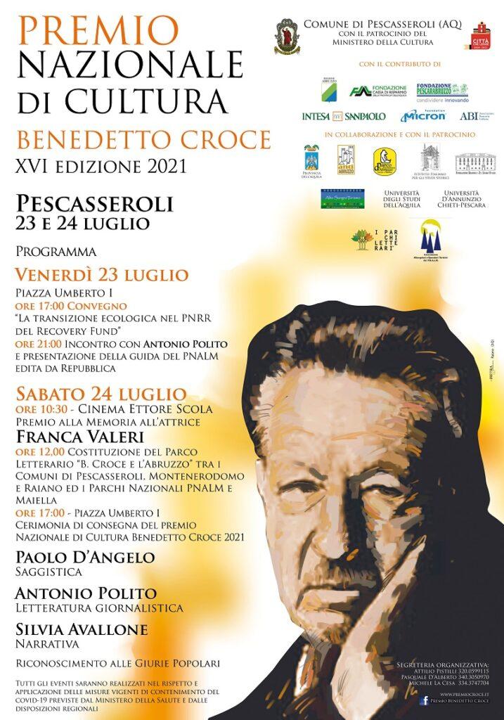 Tutto pronto per la XVI Edizione del Premio Nazionale di Cultura Benedetto Croce di Pescasseroli