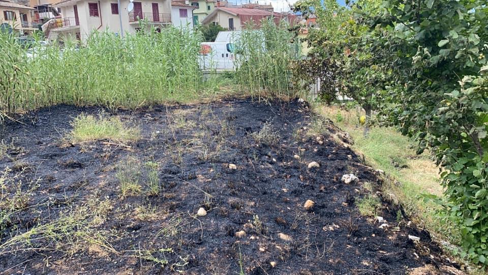 Incendio a Roccavivi, impegnate due unità antincendio