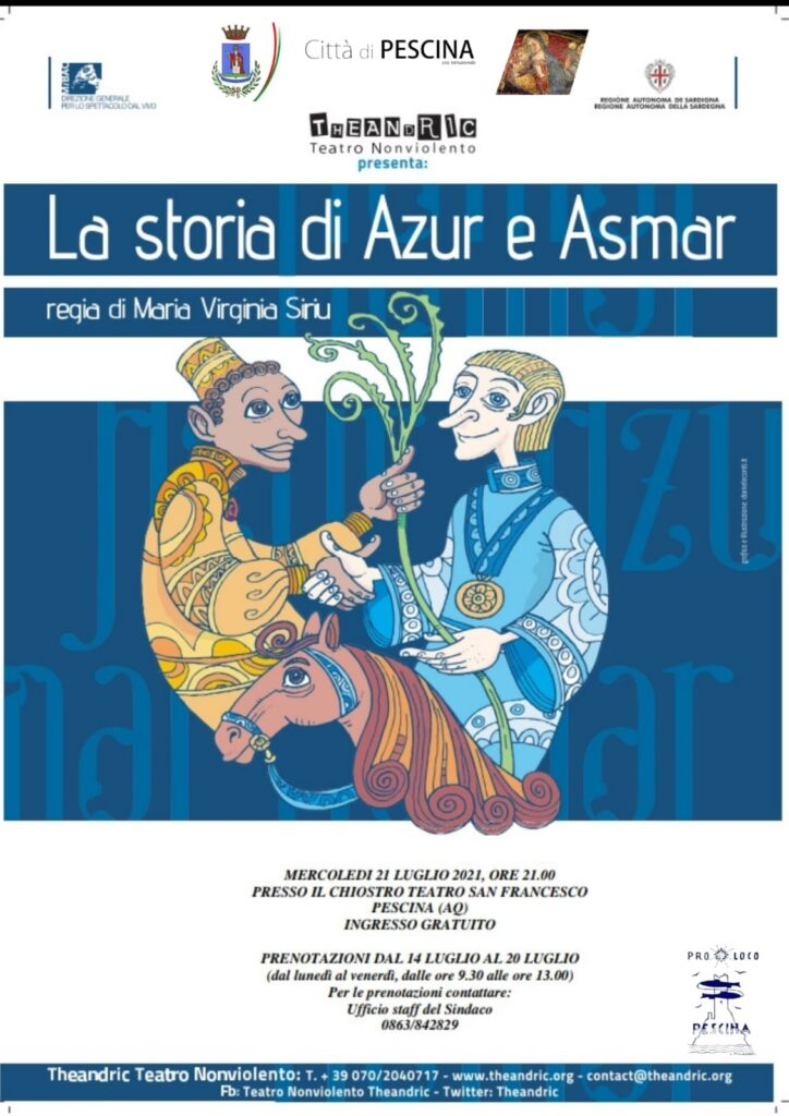 "Oggi al Teatro San Francesco di Pescina va in scena ""La storia di Azur e Asmar"""