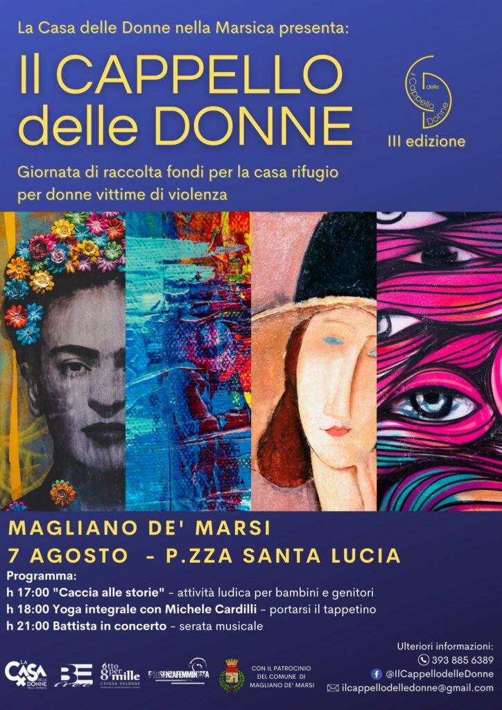 """Torna a Magliano de' Marsi """"Il Cappello Delle Donne"""", la raccolta fondi per la casa rifugio per donne vittime di violenza"""