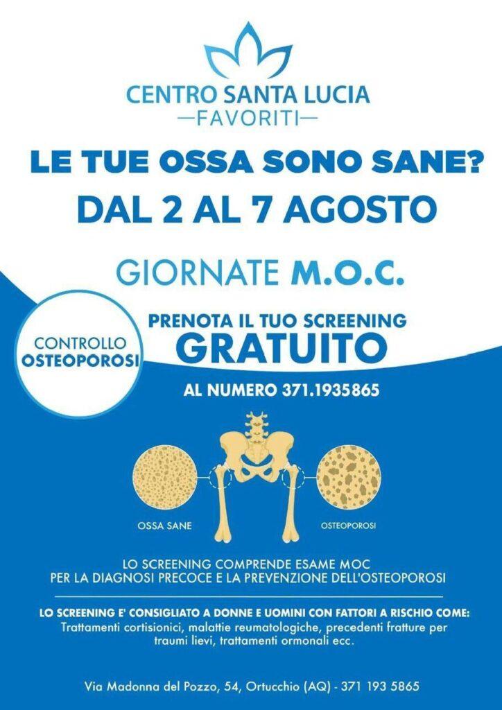 Le tue ossa sono sane? Scoprilo prenotando la tua 𝗠.𝗢.𝗖. 𝗮𝗱 𝘂𝗹𝘁𝗿𝗮𝘀𝘂𝗼𝗻𝗶 𝗴𝗿𝗮𝘁𝘂𝗶𝘁𝗮 al centro Santa Lucia di Ortucchio