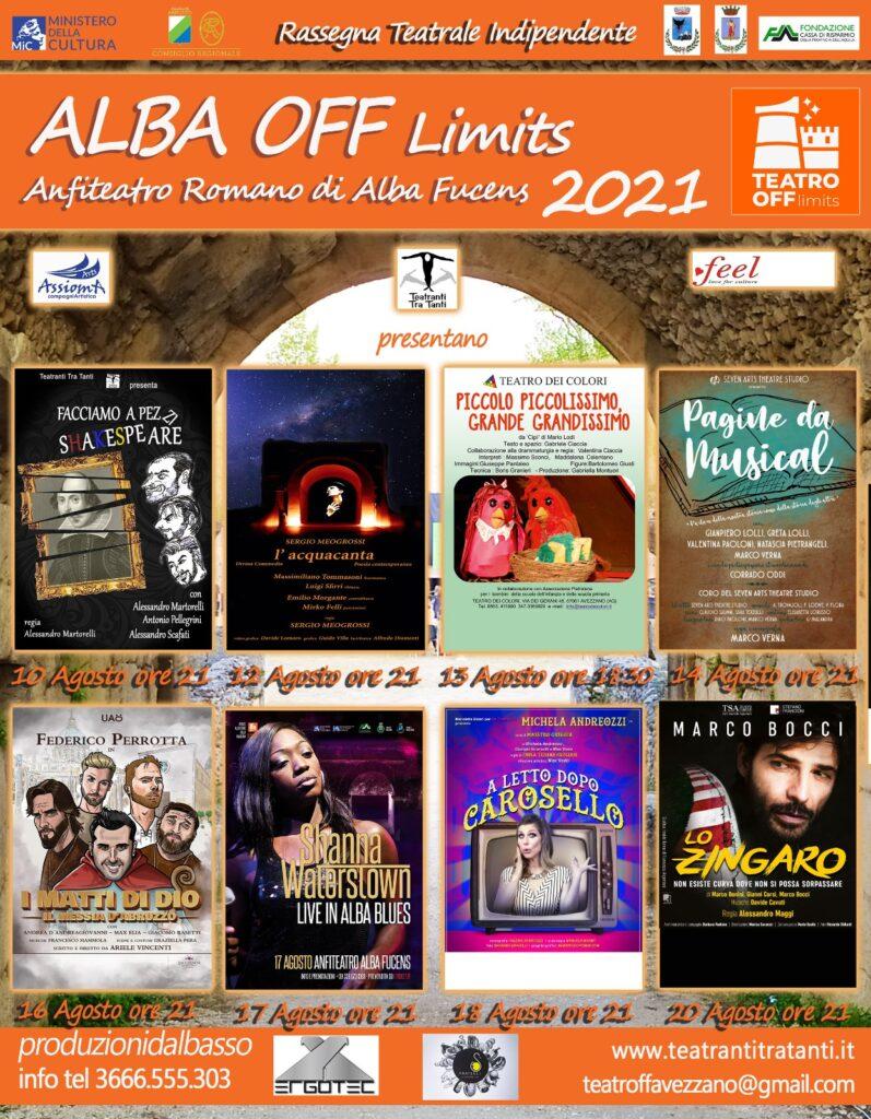 In arrivo la terza edizione di Alba Off (Limits), rassegna teatrale estiva presso l'Anfiteatro di Alba Fucens