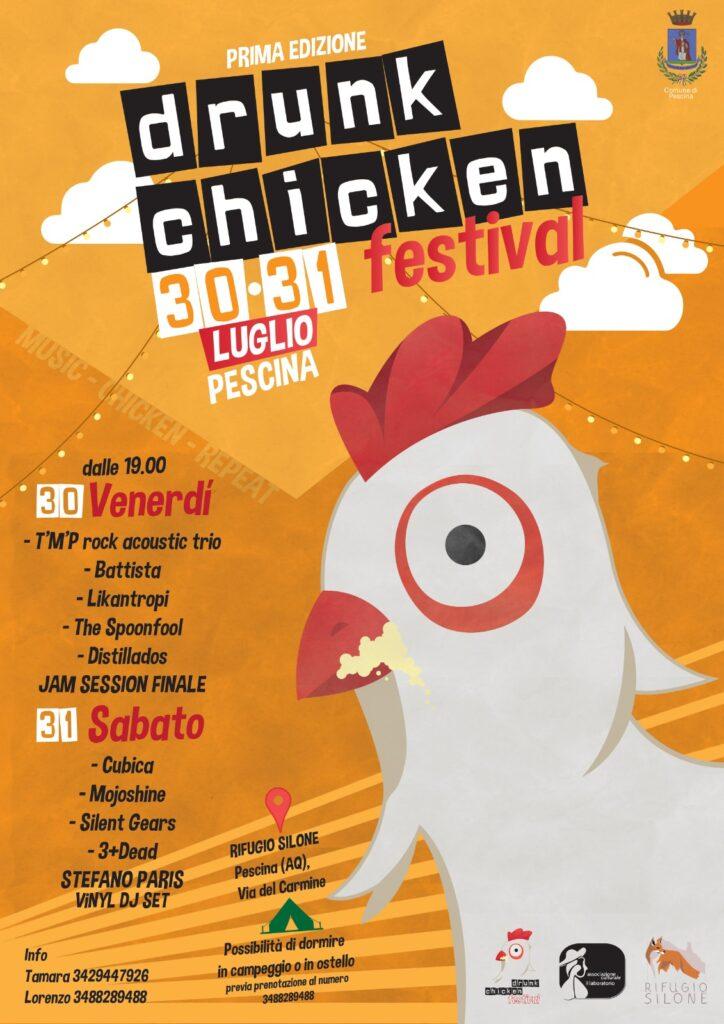 Drunk Chicken Festival, tanto rock al Rifugio Silone di Pescina il 30 e 31 luglio